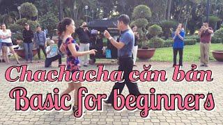 Chachacha căn bản   CLB Khiêu vũ dưỡng sinh Nhịp sống vui   Chachacha basic for beginners