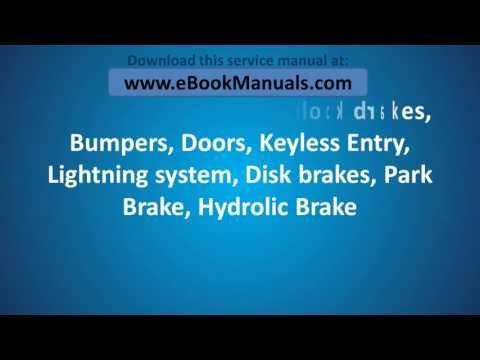 2002, 2003, 2004 & 2005 KIA Sedona Owner's Service Repair Manual - PDF Workshop Online Download