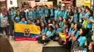 JOVENES DEL MVC ECUADOR VIAJA A LA JMJ RIO 2013 CANAL UNO DIFUNDE
