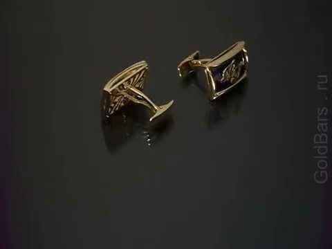 Запонки белое золото 750 пробы. 01Н670133L - YouTube