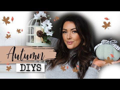DIY Poundland FALL/AUTUMN Decor 2019 | Farmhouse Autumn Decor | Mama Reid