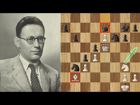Botvinnik crushes Capablanca with an Antiengine Move