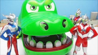 Ultraman Zero Tiga  Super Itaiwani Bite Dokkiri Action Game  BANDAI & CCP