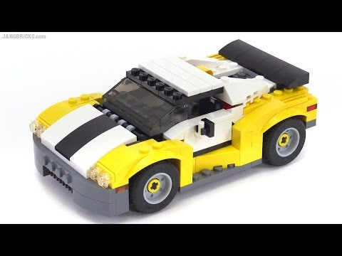 lego creator 2016 fast car all 3 builds reviewed set 31046