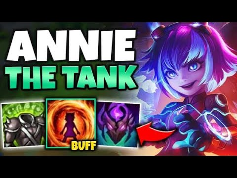 ANNIE IS A TANK NOW?! NEW BUFF TO HER E GIVES HER INSANE STATS! - League of Legends
