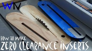 Easiest Way to Make Zero Clearance Inserts!