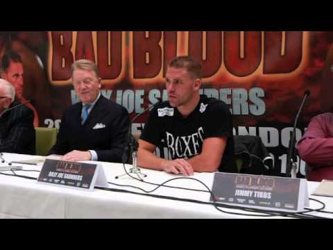 BILLY JOE SAUNDERS & FRANK WARREN PRESS CONFERNCE - ON THE CHRIS EUBANK JNR CONTRACT SITUATION