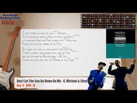 Don't Let The Sun Go Down On Me - George Michael & Elton John Guitar Backing Track mp3
