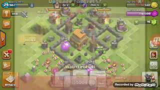 Clash of Clans (c.o.c) Townhall 4 (TH4) Max Upgrade Best Defence Base! With attacks