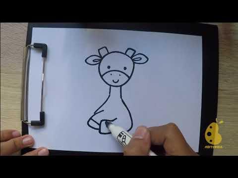 How To Draw Cute Giraffe