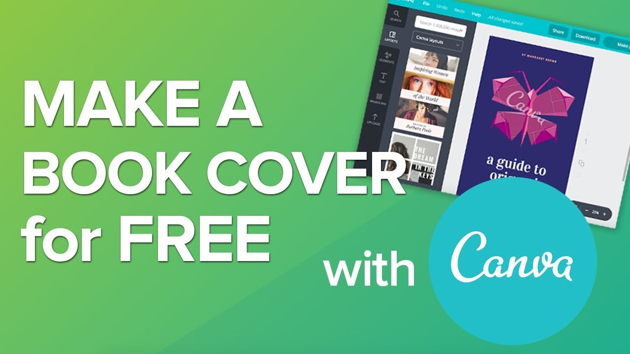 How To Make A Book Cover For Free With Canva No Skills Required