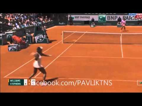 Serena Williams vs Sloane Stephens - French Open 2015 Tennis Match Highlights