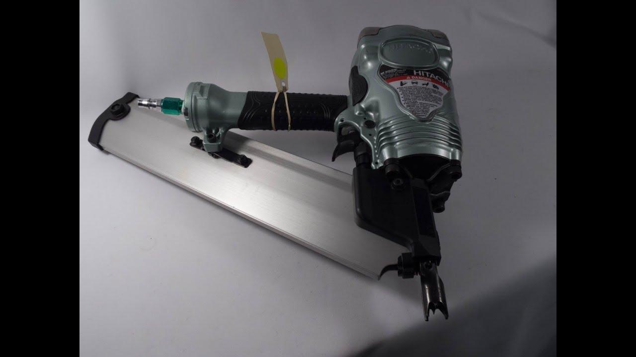 P73047 HITACHI CLIPPED HEAD FRAMING NAIL GUN NR90AD 50MM - 90MM 3 1 ...