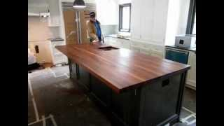 California Butcher Block, Walnut Edge Grain And With Continious Wood Stringers.