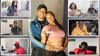 TELLING OUR FAMILY AND FRIENDS WE'RE PREGNANT!! (EMOTIONAL)