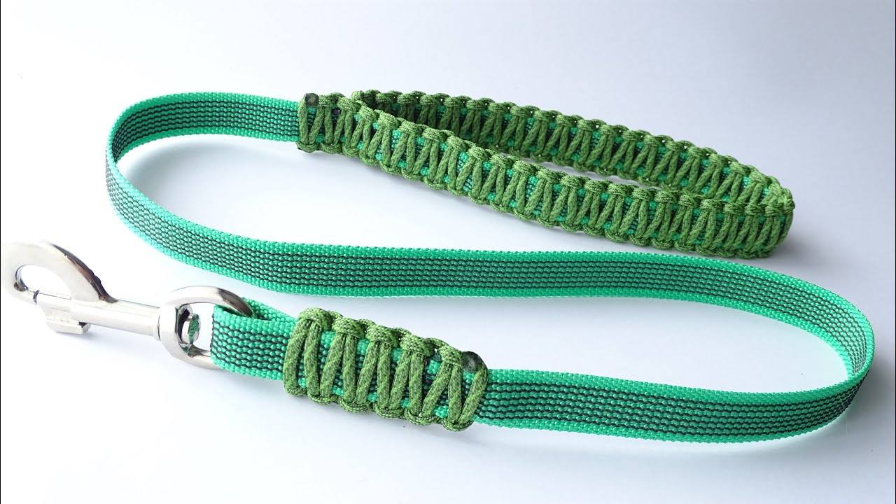 Make a Strong Dog Leash at Home using Webbing and Paracord - Easy to Make – CBYS