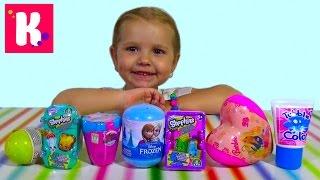 Шопкинс Холодное сердце Барби сюрпризы с игрушками распаковка surprise unboxing