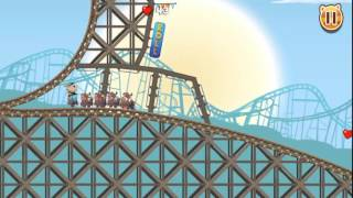 Video game Play Nutty Fluffies Roller Coaster