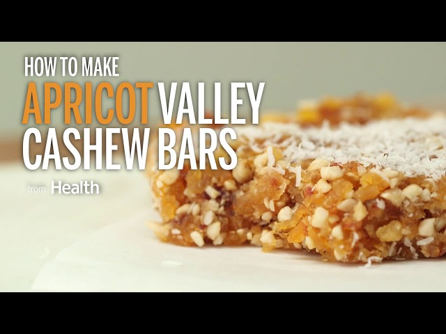 How To Make Apricot Vanilla Cashew Bars | Health