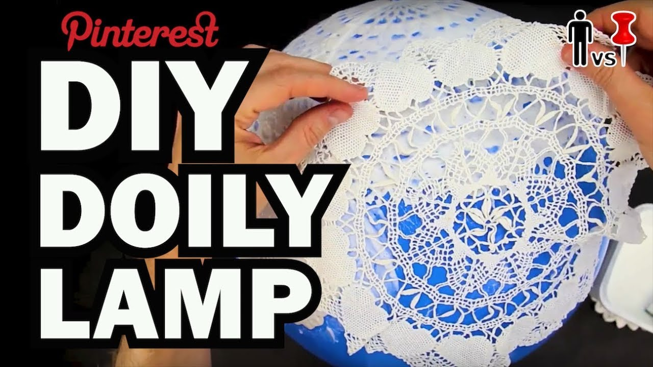 Diy Doily Lamp Man Vs Pin