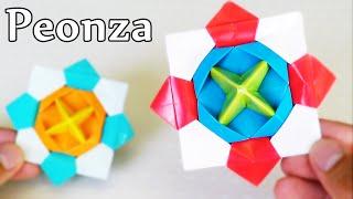 Peonza increíble de Papel - Origami