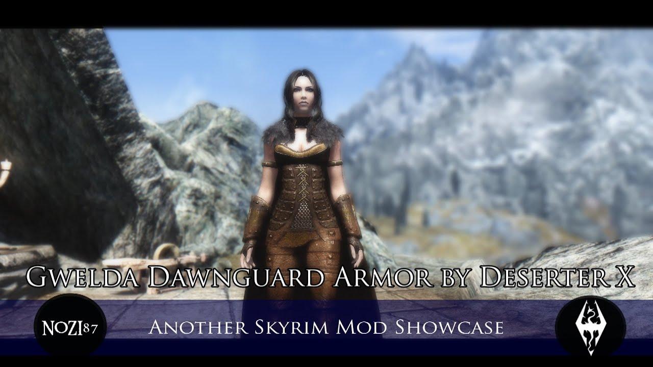 TES V Skyrim Mods Gwelda Dawnguard Armor By Deserter X