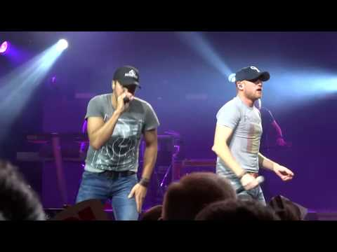 """Luke Bryan and Cole Swindell """"This is How We Roll"""" 8-24-14"""