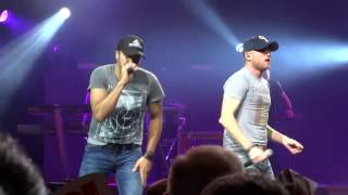 "Luke Bryan and Cole Swindell ""This is How We Roll"" 8-24-14"