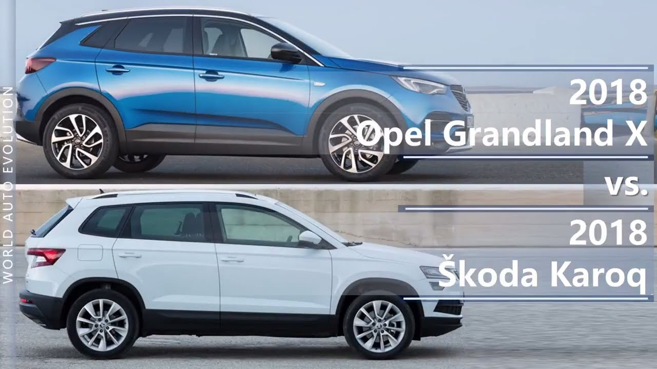 2018 opel grandland x vs 2018 skoda karoq technical comparison youtube. Black Bedroom Furniture Sets. Home Design Ideas