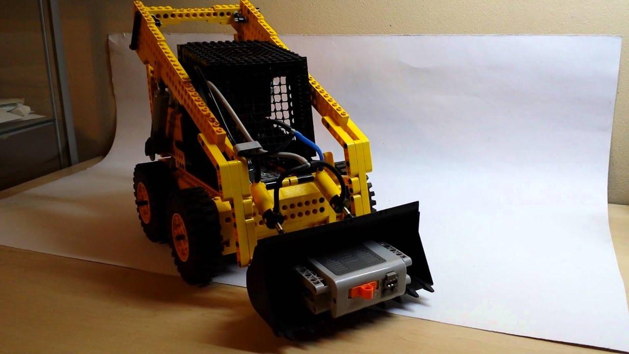 Lego Technic Bobcat >> LEGO Technic Skid Steer Loader Bobcat - YouTube
