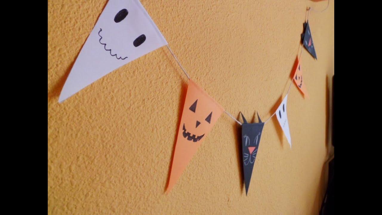Manualidades infantiles Banderines DIY para Halloween YouTube