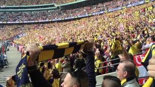 The National Anthem Being Sung By Arsenal Fans At Wembley [Robbie Cam]