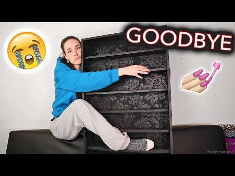 TAKING DOWN MY NAIL POLISH SHELVES (Im leaving) *EMOtionAL*