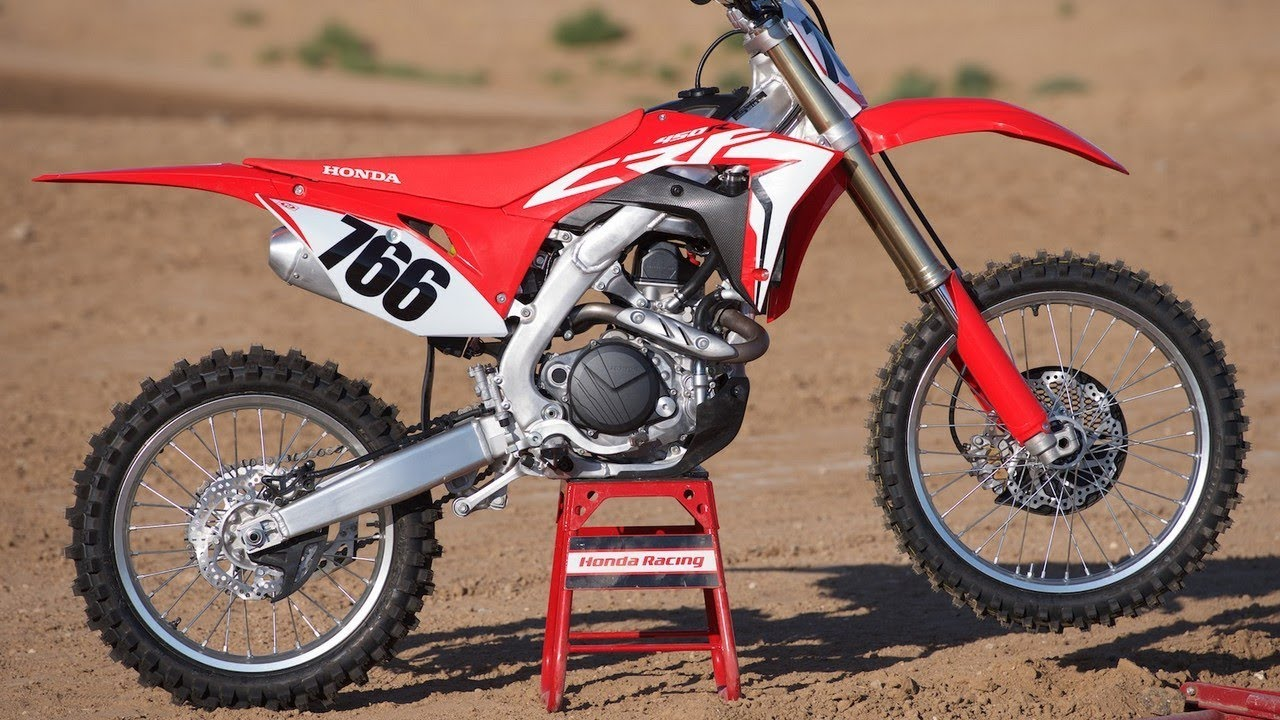 2018 honda crf450r first ride review youtube for 2018 honda 2 stroke