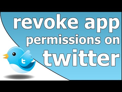 How to revoke Twitter app permissions