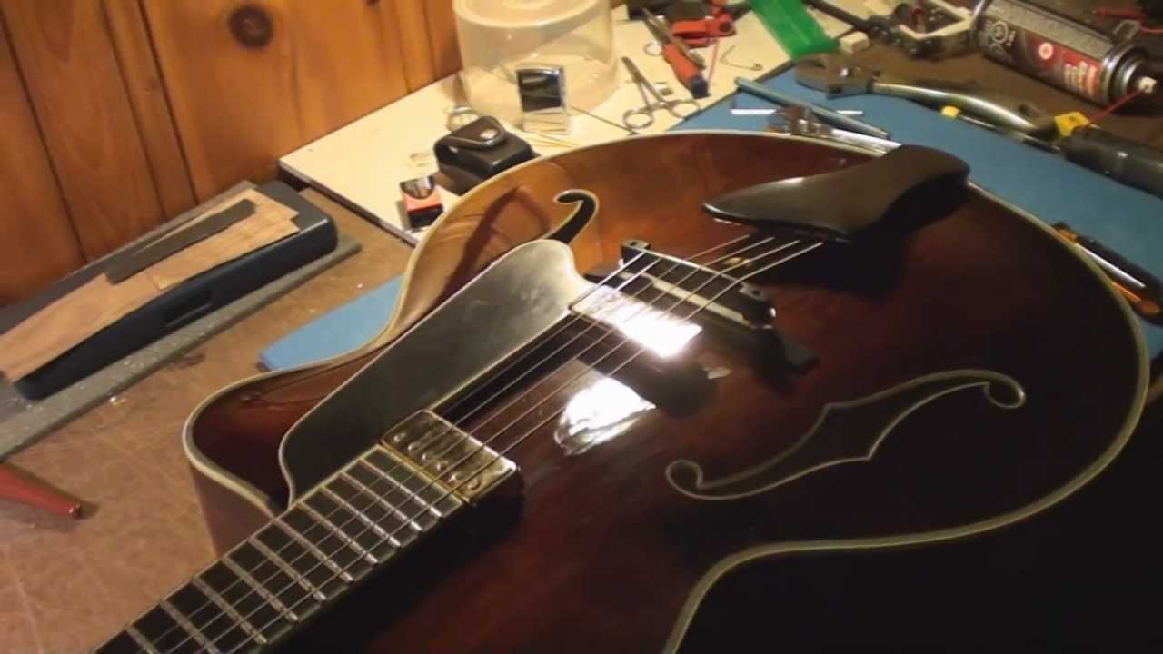 Eastman Archtop Acoustic Guitar Repair Part 1 And 2 Youtube
