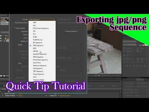 Export as jpg sequence or png sequence AE tutorial