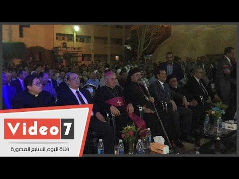 محافظ أسيوط يشارك سفير الفاتيكان افتتاح مغارة ومزار العائلة المقدسة