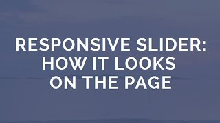 Responsive Slider - Impressive Animation! thumbnail