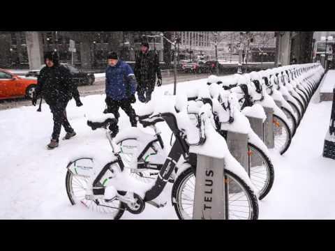 Toronto snow storm in pictures