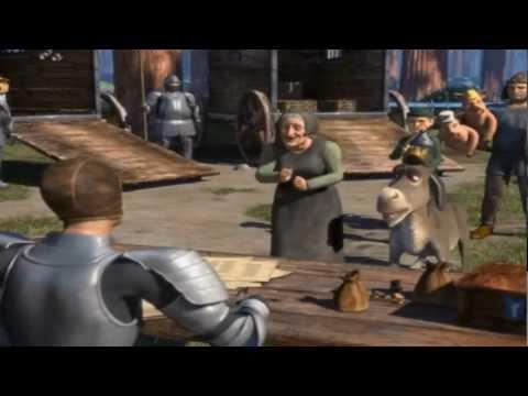 shrek conoce a burro