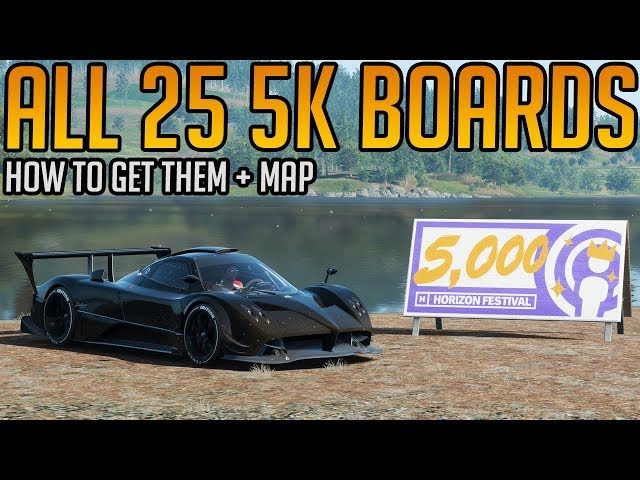 Forza Horizon 4: All 25 5,000 Influence Boards Location Guide