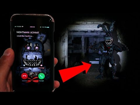 (GONE WRONG) CALLING NIGHTMARE BONNIE ON FACETIME AT 3AM | NIGHTMARE BONNIE FOUND AT 3AM