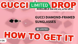 ROBLOX LIMITED GUCCI DIAMOND FRAMED SUNGLASSES (HOW TO GET THEM)