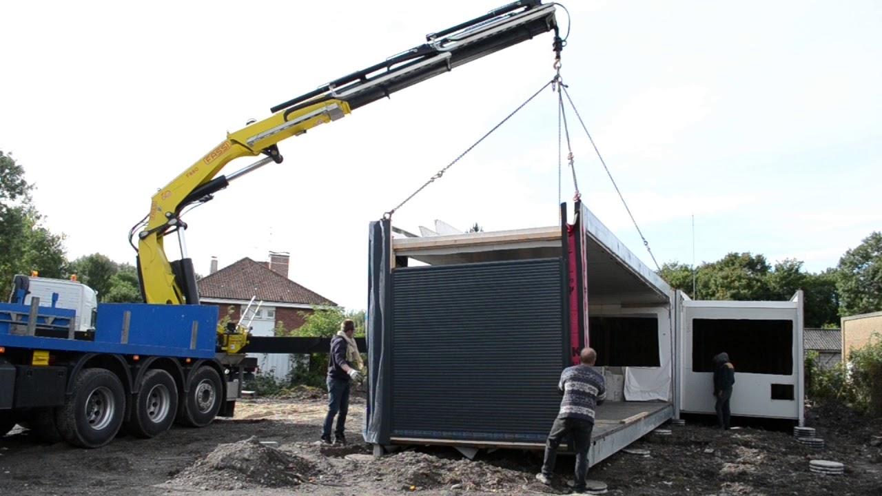 Maison container goliat mise en place de la premi re maison partie 1 youtube - Container maison ...