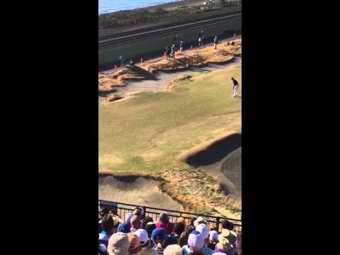 Jordan Spieth U.S. Open Championship Round Hole 16 Chambers Bay Birdie to take the lead