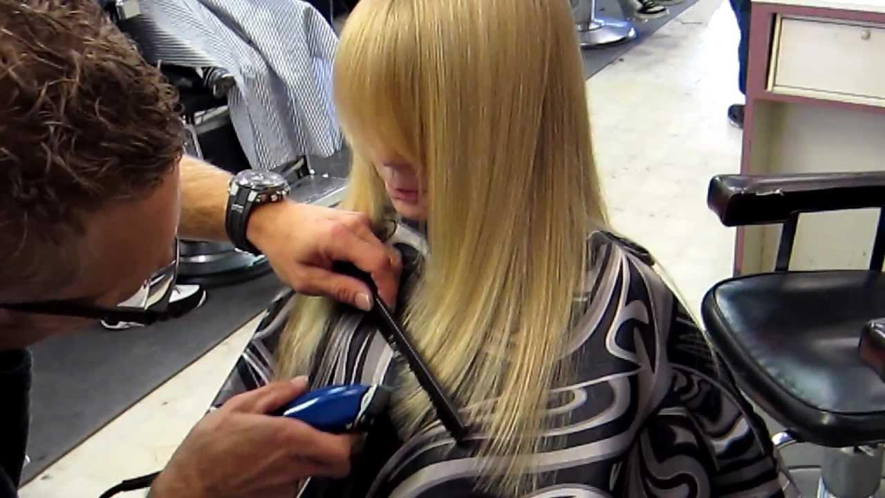 Jason Cutting Long Blonde Clipper Haircut Beautiful Hair