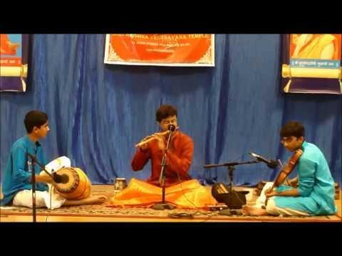 Mahaganapathim-Flute Concert by Tejasvi Raghunath@ SKV Temple