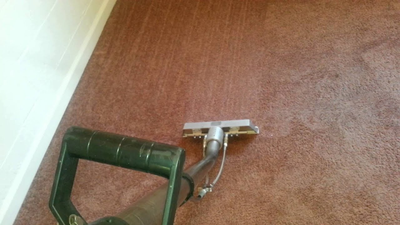 A Plus Carpet Cleaning. Cleaning with DevPro wand