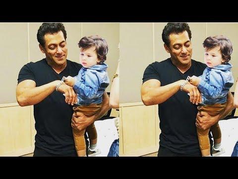 Salman Khan meets Kareena Kapoor Khan's son Taimur Ali Khan on Eid | Mp3